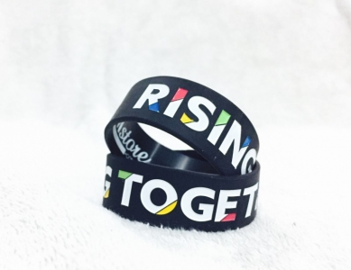 "Wristbands (Silicone) - ""RISING TOGETHER"""