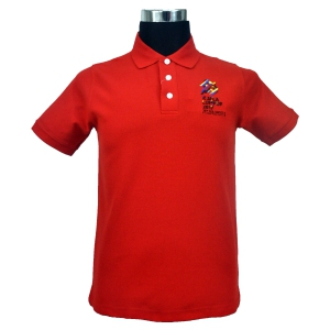 KL2017 COLLAR TSHIRT (Honeycomb/Red)